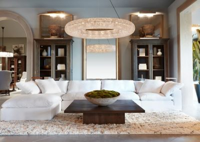 Restoration Hardware Architecture Vignette Living Room
