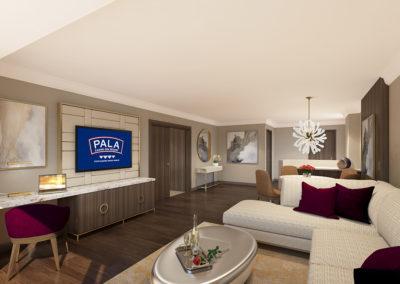 Pala 2-bay Suite liv rm view 1