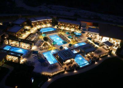 Pala Casino Pool Night View